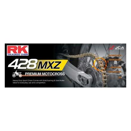 58428MX.154 CHAINE RK 428MX Motocross Ultra Renforcée 154 MAILLONS avec Attache Rapide. Chaine RK Racing Chaine