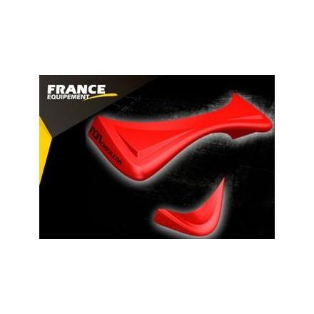 PR09.221 Spoiler pour casque de moto. Couleur Rouge. (2 Pièces) OneDesign Accessoires casque