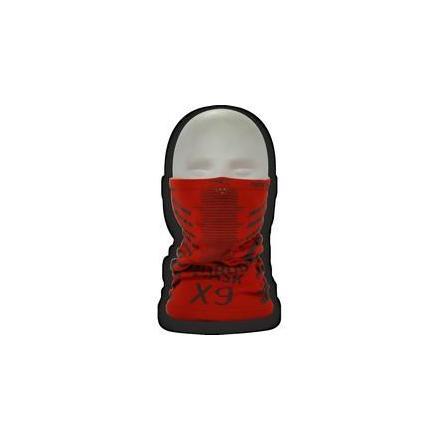 PR01.X9E Tour de cou SPECIAL HIVER. Dimension: 20x23 cm Rouge avec écriture Grise. OneDesign Cagoules et Tour de cou