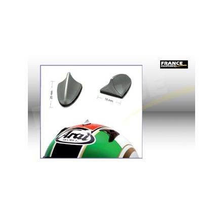 PR09.215G Spoiler adhésif pour casque de moto.Couleur Argent. (2 Pièces) Format : 25x16mm. OneDesign Accessoires casque