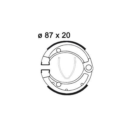 Machoires de freins AP RACING LMS838