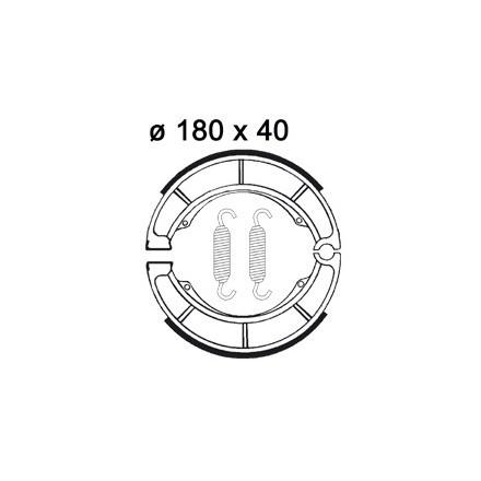 Machoires de freins AP RACING LMS875