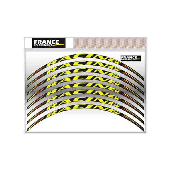 Kit d co jante racing jaune fluo fp moto for Accessoire deco jaune