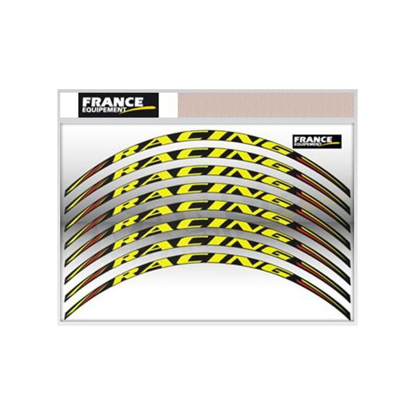 Kit d co jante racing jaune fluo fp moto for Accessoire deco jaune