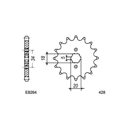 2902.E264.19 PIG HONDA CB125.K5/S 19 428 xxx Info
