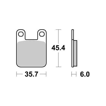 Plaquettes de frein AP RACING LMP159ST