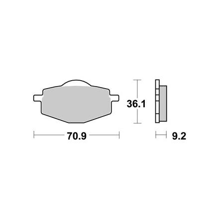 Plaquettes de frein AP RACING LMP175ST