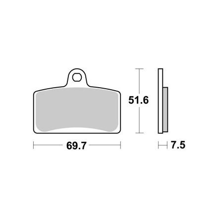 Plaquettes de frein AP RACING LMP421SM