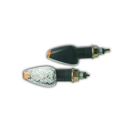 CL01.0801  Paire de clignontants, tige courte noire, ampoule LED  xxx Info