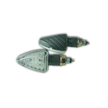 CL01.0707  Paire de clignotants, tige courte, ampoule LED.  xxx Info