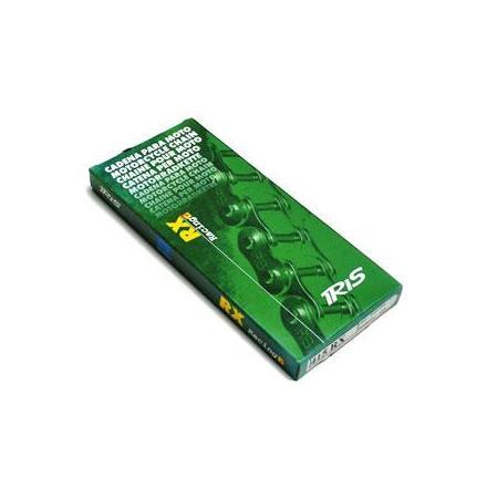 4370 CHAINE CYCLO 415 IRIS RX RACING CHROME-NOIR 120 MAILLONS xxx Info IRIS