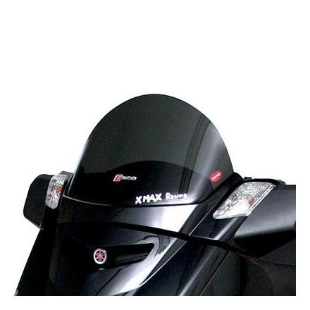 33222 BULLE-SAUTE VENT MAXISCOOTER POUR YAMAHA 125 XMAX 2006>2013-MBK 125 SKYCRUISER 2006>2013 FUME FONCE (H 295mm - L 525mm)  -