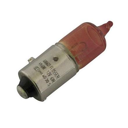 34621 AMPOULE-LAMPE 12V 6W NORME H6W CULOT BAZ9S TEMOIN HALOGENE ORANGE (CLIGNOTANT) (VENDU A L'UNITE) -FLOSSER- xxx Info FLOS