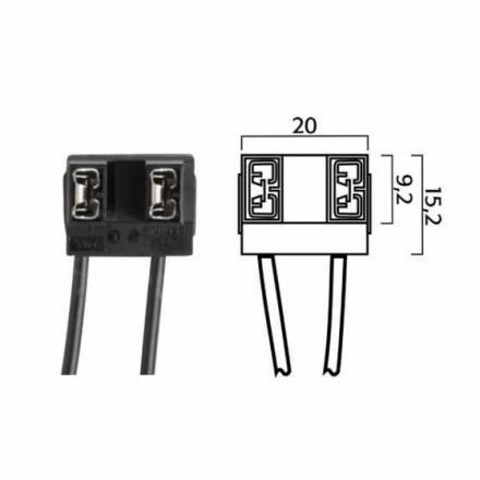 RM.246472070  Fiche pour ampoules H7 avec cables  Ampoules & Lampes