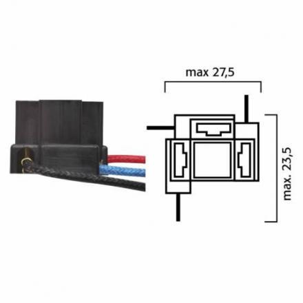 RM.246472050  Fiche pour ampoules H4 avec cables  Ampoules & Lampes