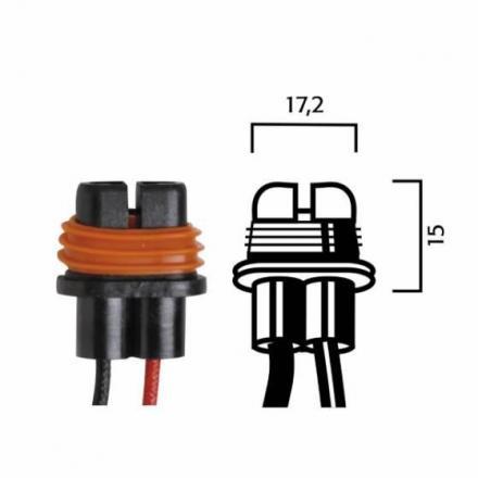 RM.246472080  Fiche pour ampoules H8/H9/H11 avec cables  Ampoules & Lampes