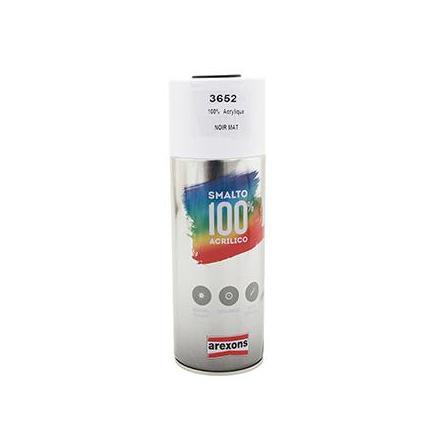 149895 BOMBE DE PEINTURE AREXONS ACRYLIQUE 100 NOIR MAT spray 400 ml (3652) xxx Info