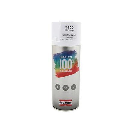 149896 BOMBE DE PEINTURE AREXONS ACRYLIQUE 100 VERNIS TRANSPARENT BRILLANT spray 400 ml (3600) xxx Info
