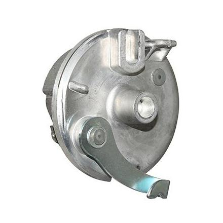 141850 FLASQUE DE FREIN CYCLO ADAPTABLE PEUGEOT 103 SP, MVL AVANT DIAM 80mm (TYPE LELEU AVEC MACHOIRES)  -SELECTION P2R-  Etrier