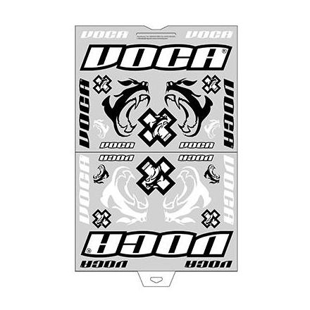 148588 AUTOCOLLANT-STICKER VOCA RACE-SQUAD (PANCHE 45x35cm - 28 STICKERS) xxx Info PROGRIP