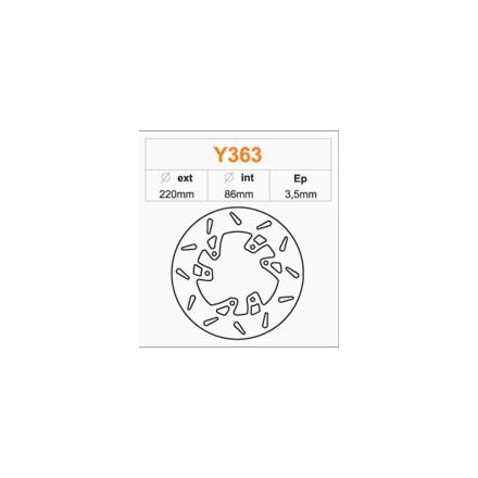 Disque de frein FE.Y363 Yamaha 50 DT 96-02 Avant