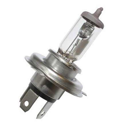 32092 AMPOULE-LAMPE 12V 60-55W NORME H4 CULOT P43T BLANC MEGA +50% (PROJECTEUR) (VENDU A L'UNITE) -FLOSSER- xxx Info FLOSSER