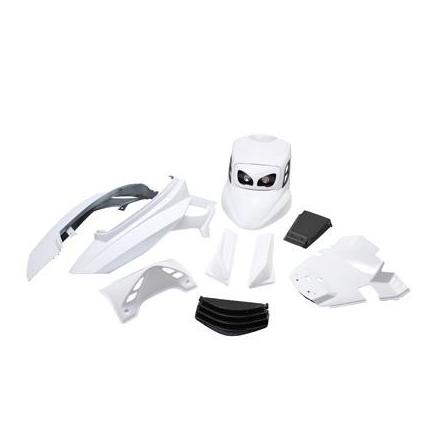 21096 CARROSSERIE SCOOT BCD POUR MBK 50 BOOSTER 2004>-YAMAHA 50 BWS 2004> BLANC (KIT V1) ** xxx Info BCD