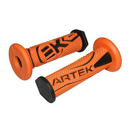 24486 REVETEMENT POIGNEE ARTEK K1 ORANGE-NOIR (PAIRE) xxx Info ARTEK