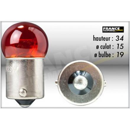 Ampoule BA15S/G18 12V21W-23W Orange