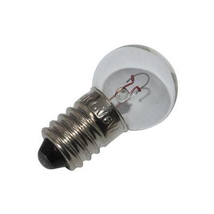 37358 AMPOULE-LAMPE 6V 6W CULOT E-10 GRAISSEUR BLANC (FEU DE POSITION) (VENDU A L UNITE) -FLOSSER- xxx Info FLOSSER