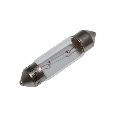 37349 AMPOULE-LAMPE 6V 5W NORME C5W CULOT SV 8.5-11X35 NAVETTE BLANC (FEU DE POSITION) (VENDU A L UNITE) -FLOSSER- xxx Info F