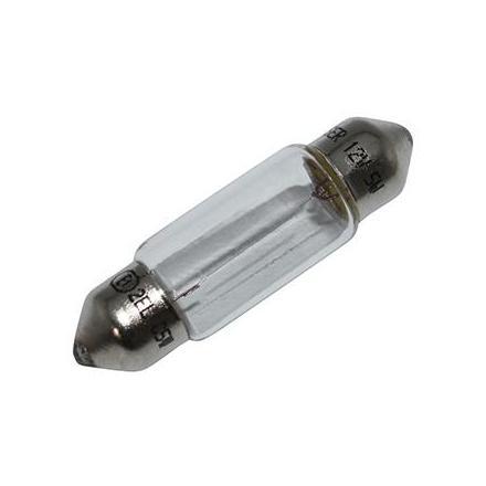 37350 AMPOULE-LAMPE 12V 5W NORME C5W CULOT SV 8.5-11X35 NAVETTE BLANC (FEU DE POSITION) (VENDU A L UNITE) -FLOSSER- xxx Info F