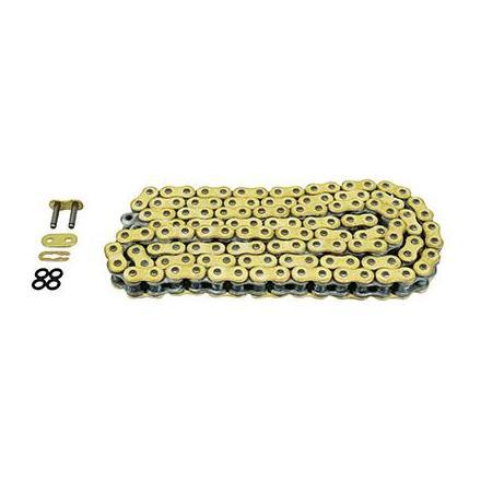 160697 CHAINE MOTO AFAM  428  132 MAILLONS  XS-RING RENFORCEE  OR  POUR LES 50cc ET 125cc xxx Info