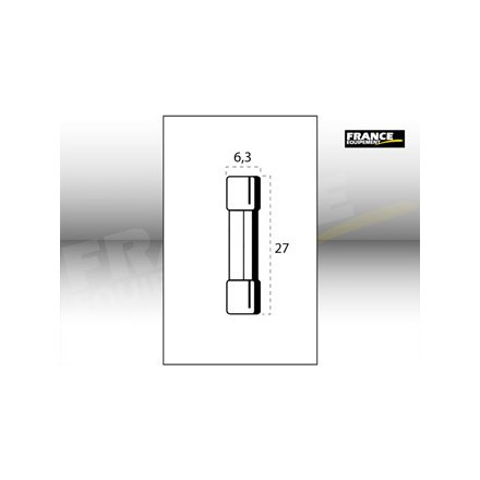 Fusible verre 6,3 X 27MM 15 Ampères (unité)