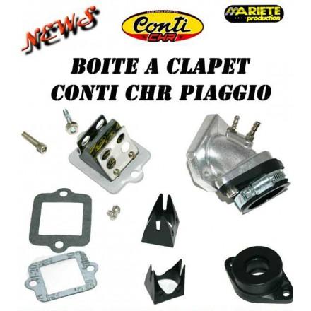 Boîte à clapet Big CONTI CHR Moteur scooter Piaggio air et H2o D.19/21 + 24/32