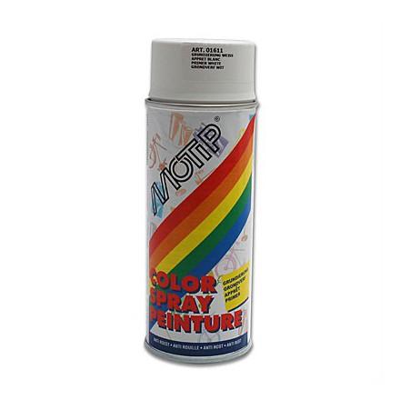 Bombe de peinture Motip Glycero apprêt Blanc (400ml)