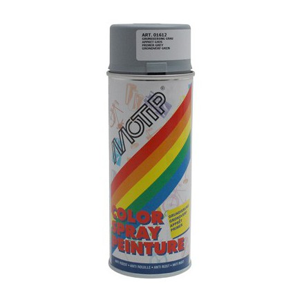 Bombe de peinture Motip Glycero apprêt Gris spray (400ml)