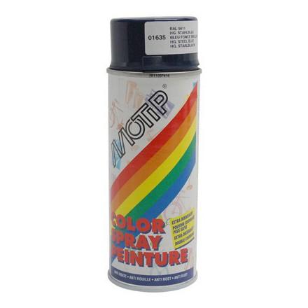 Bombe de peinture motip glycero brillant bleu acier spray - Peinture glycero couleur ...
