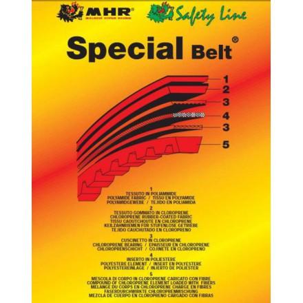 Courroie Malossi Special Belt 18,5x8x730 30° PIAGGIO 50 FLY 4T, VESPA ET2, VESPA ET4, VESPA LX 2T, VESPA LX 4T, ZIP 2T, ZIP 4TCa