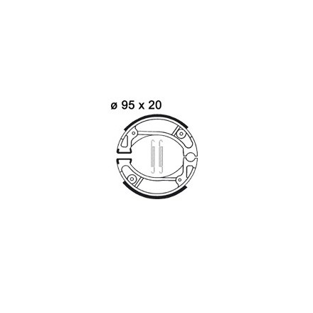 Mâchoire de freins AP RACING LMS847 O 95 x 20