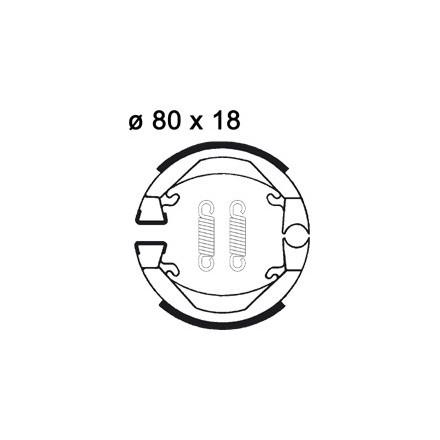 Mâchoire de freins AP RACING LMS860 O 80 x 18
