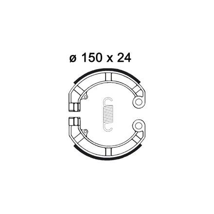 Mâchoire de freins AP RACING LMS899 O 150 x 24