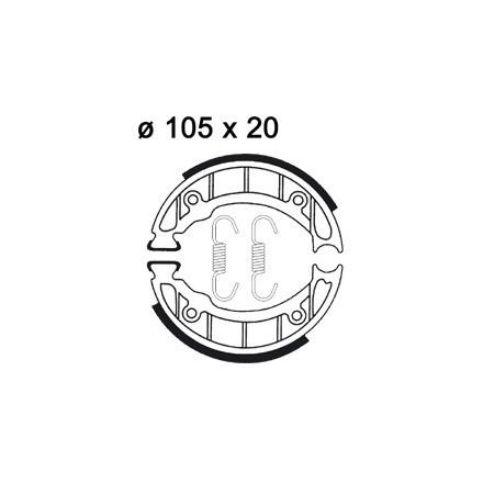 Mâchoire de freins AP RACING LMS919 O 105 x 20