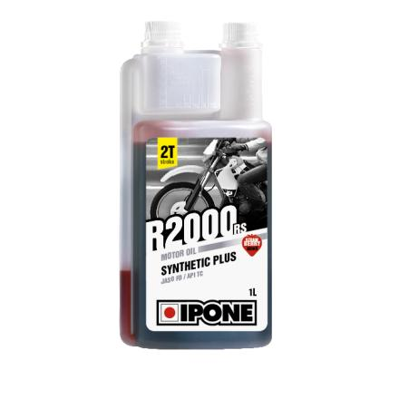 Huile Ipone R2000RS 2T Semi-synthétique fraise (avec doseur intégré)