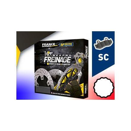 KF.004478 Kit Freinage Avant Scooter PEUGEOT 125 Satelis Compressor 2012-2012 Disques de frein FRANCE EQUIPEMENT | Fp-moto.com