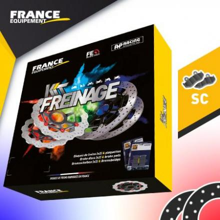 KF.008385 Kit Freinage FRANCE EQUIPEMENT - AP RACING Composé de 2 Disques KF.008385 Disques de frein FRANCE EQUIPEMENT   | Fp-mo