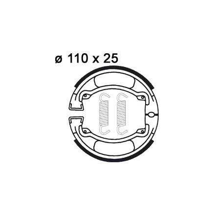 Mâchoire de freins AP RACING LMS822 O 110 x 25