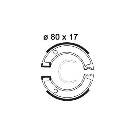 Mâchoire de freins AP RACING LMS885 O 80 x 17