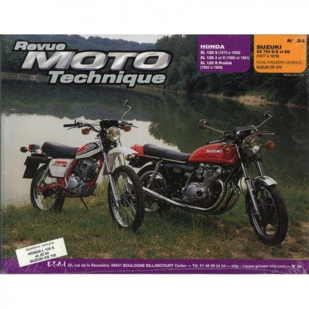 Revue Moto Technique RMT 34 HONDA XL125 (1978 à 1989) et SUZUKI GS750 (1977 à 1979)