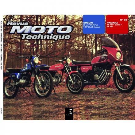Revue Moto Technique RMT 36 SUZUKI 50 GT-TS-ER et YAMAHA XS 750 - XS 850
